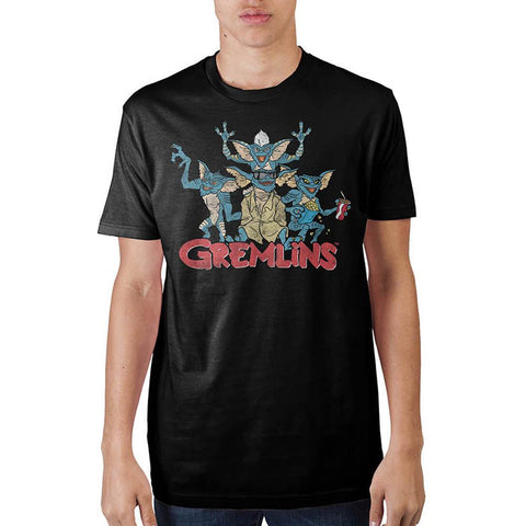 Gremlins Group Black T-Shirt