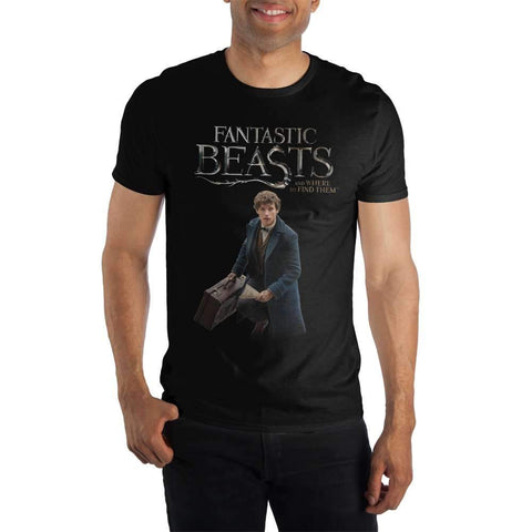 Fantastic Beasts And Where To Find Them Specialty Soft Hand Print Men's Black T-Shirt