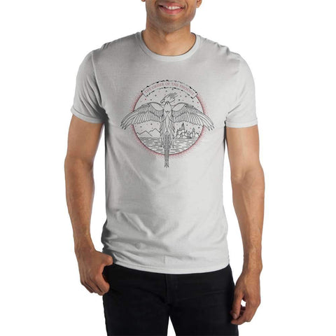 Harry Potter The Order Of The Phoenix Logo Men's White T-Shirt
