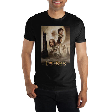 Black Lord of the Rings The Two Towers Character Shirt