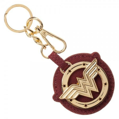 Wonder Woman Metal Canvas Keychain