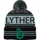 Harry Potter Black Green Teal Marled Pom Beanie