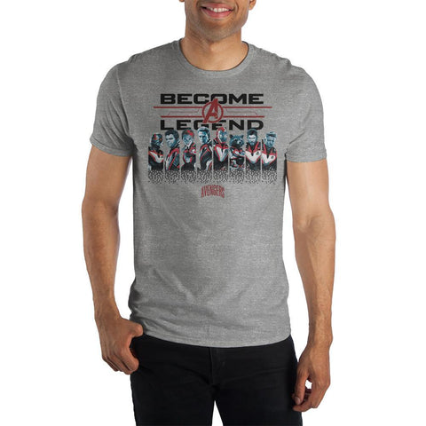 Become A Legend Mens Avengers Shirt Short Sleeve Avengers T Shirt