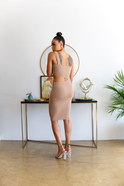 One Shoulder Cutout Dress