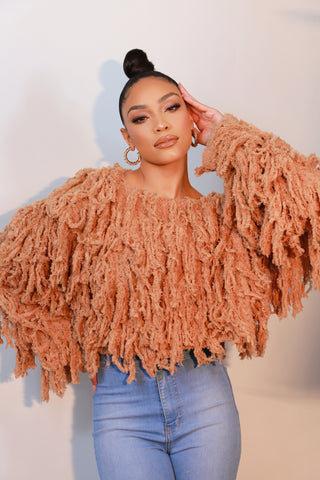 Shaggy Fringe Sweater
