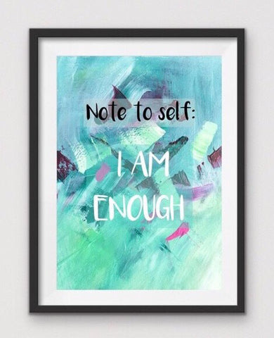 'I am enough'