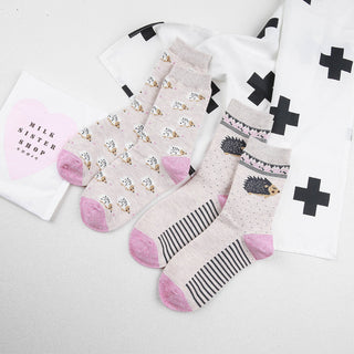 Lovely Cartoon Cotton Colorful Sock