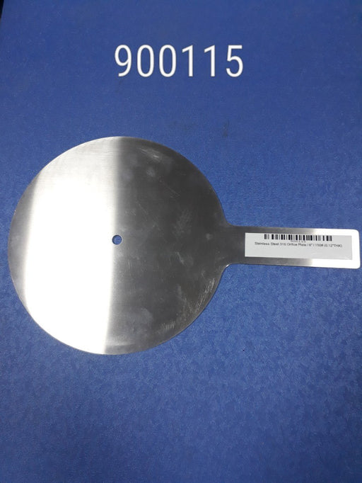 "Stainless Steel 316 Orifice Plate,Size6"", 150#(0.12"" Thk), Penberthy"