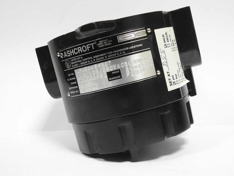 Ashcroft Pressure Switch ( 60-400 Psi ) - MBENERGY STOCK