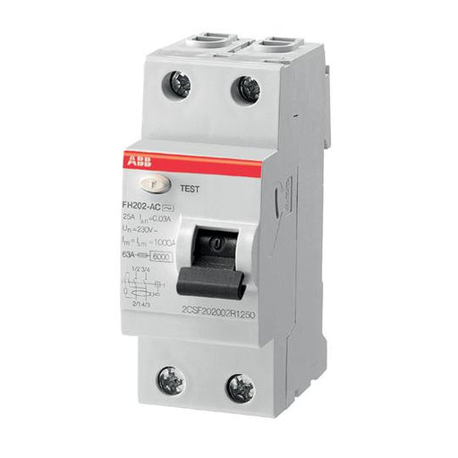 ABB RCCB FH202 AC-25/0,03 2P Residual Current Circuit Breaker - MBENERGY STOCK