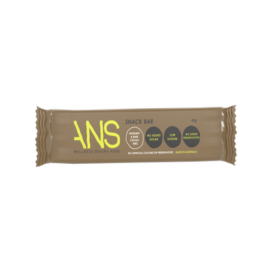 HAZELNUT & RAW CACAO NIBS SNACK BAR - ANS Group's Online Shop