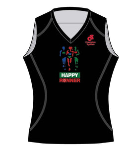 Women's Apex Run Singlet (Black)