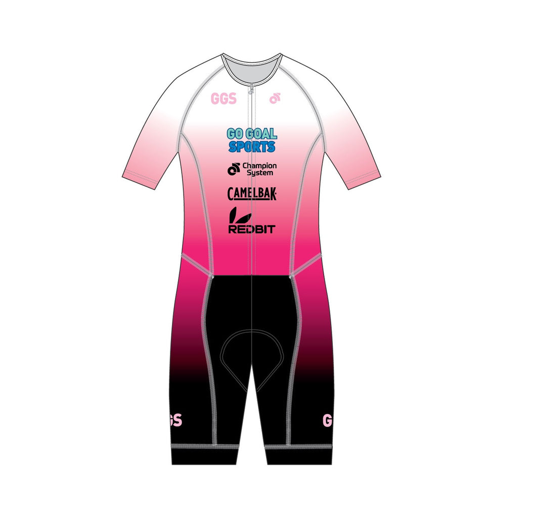 Triathlon - Aero Lite Trisuit (2019 Racing Pink- Team Edition)
