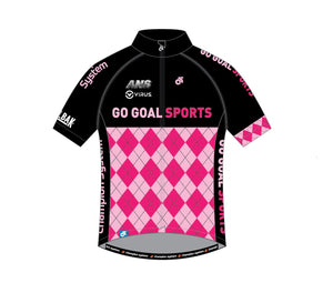 Cycling - Child cycling jersey (Blue / Pink)