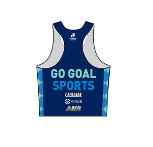 Running - APEX Men's marathon run singlet (Blue / Pink)