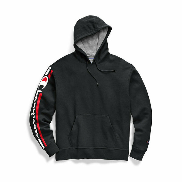 Champion Men's Powerblend® Fleece Pullover Hoodie, Vertical Logo