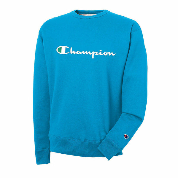 Champion Men's Powerblend® Crew, Script Logo New Colors