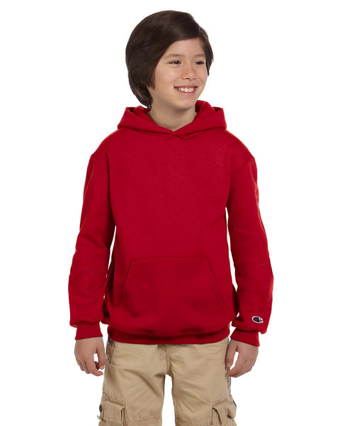 Champion Youth 9 oz. Double Dry Eco® Pullover Hood
