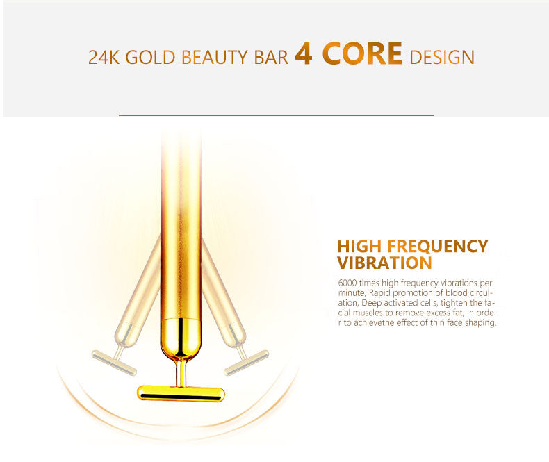 24K gold beauty bar electric face-lift remove the nasolabial fold firming
