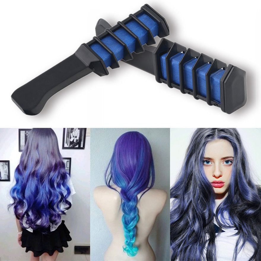 6 Colors Hair Color Dye Powder 1pc Temporary Hair Chalk With Comb