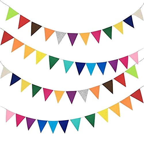 Triangle Rainbow Felt Banner