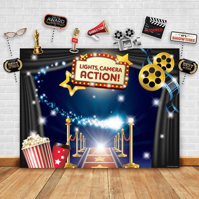 Hollywood Movie Theme Backdrop