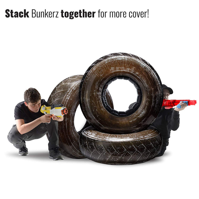 Jumbo Tire Inflatable Battle Zone