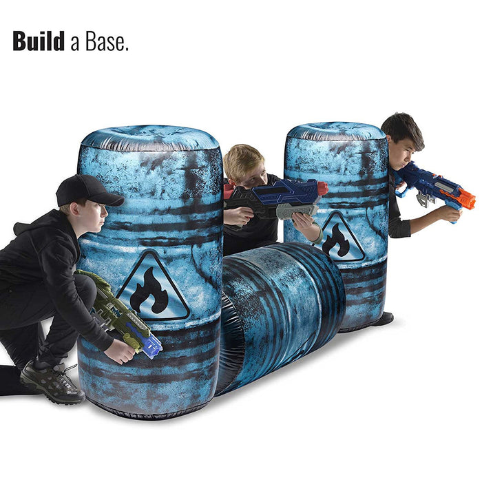 Oil Barrel Inflatable Battle Zone