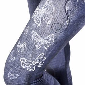 Butterfly Stretchy Casual Jeggings