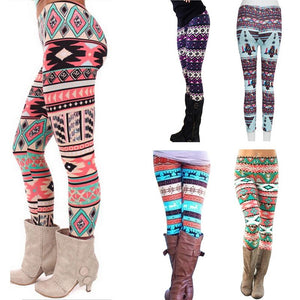 Casual Printed Elastic Skinny Slim Leggings