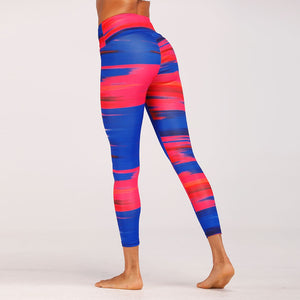 Striped Camo Fitness Leggings