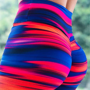Candy Striped Fitness Leggings