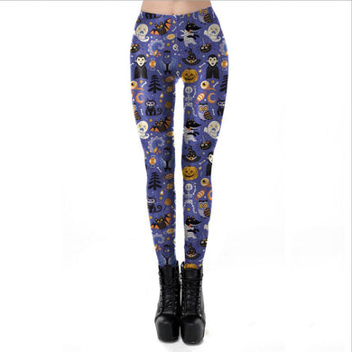 High-Waist-Halloween-Skull-Skeleton-Muscle-Bones Leggings