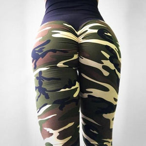 Camouflage Casual Polyester Leggings