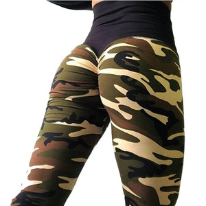 Women Camouflage Casual Polyester Leggings