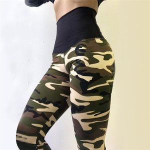 Women Camouflage Polyester Leggings