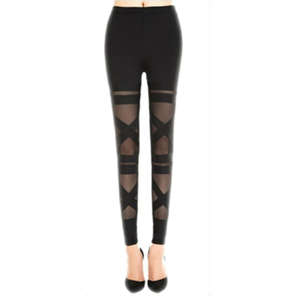 Mesh Women Halloween Gothic Legging