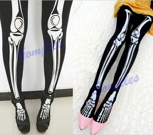 Funny Halloween Skeleton Bone Leggings