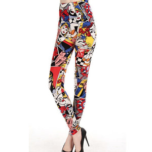 lady cartoon Leggings Graffiti Leggins Girls Adventure Time Comic Legging Sexy Punk Rock Leggin Disco Pants night bar Club pant