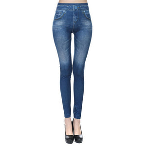 High Waist Ladies Elastic Jean Leggings