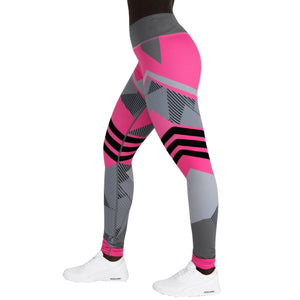 Pink Straps Leggings Yoga Pants
