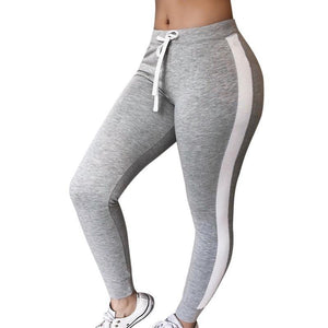 Knit Striped Sweatpants Fitness Legging