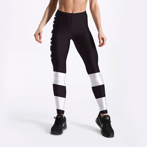 3D-Printed-Striped Workout Leggings