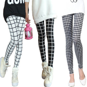 Black and White Plaid Leggings On Sale | Leggingsoutfitters