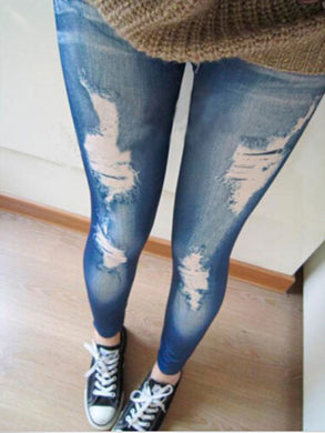 New Blue / Black Leggings For Women