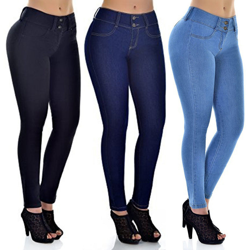Jeans Ankle Pencil Pants Slim Elastic Denim Pants Cotton Jeggings Jeans