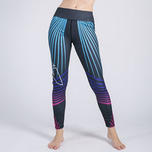 Sapphire Striped Fitness Leggings