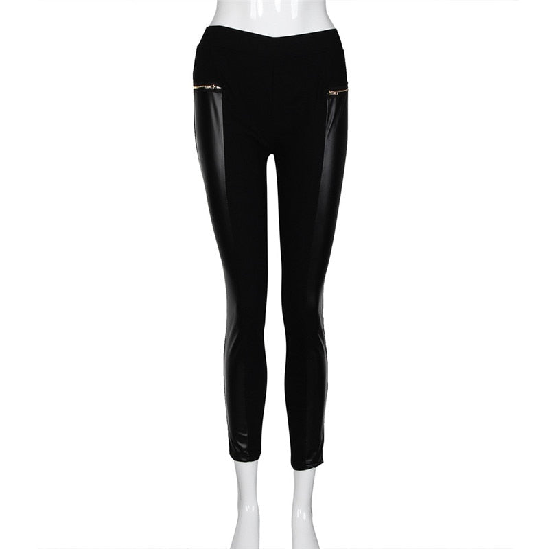 Delilah Zippered Leather Leggings On Sale | Leggingsoutfitters