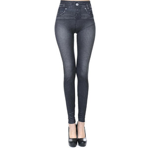 Sexy High Waist Women Jean Leggings Pants