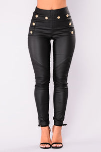 Newest Skinny Faux Leather Jeggings